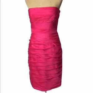 Monique Lhuillier ruched strapless dress